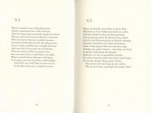 Übersetzung Shakespeare Sonett Nr. XV
