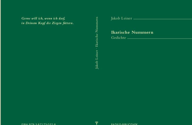 Jakob Leiner: Ikarische Nummern. Gedichte Titel