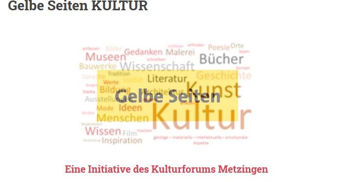 Vorstellung Gelbe Seiten KULTUR des Kulturforums Metzingen – ein Interview