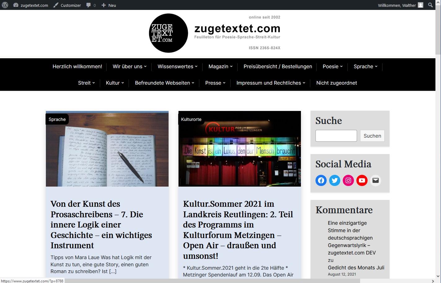 Nach 6 Jahren: Neues Seitenlayout von #zugetextetBlog